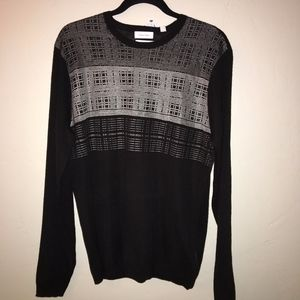 NWT Calvin Klein Black Crew Neck Sweater Size L